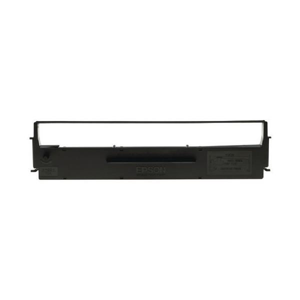 epson black serial impact dot matrix ink ribbon cartridge