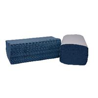 2Work I-Fold Blue Hand Towel 1Ply Pk3600