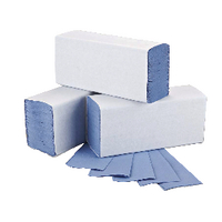 2Work M-Fold Hand Towel 1Ply Blue Pk3000