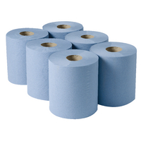 2Work Centrefeed Roll 3Ply Blue 135m Pk6