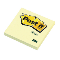 Post-it Notes Canary Yellow 76x76mm Pk12