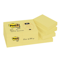 Post-it Yellow Recycl Notes 38x51mm Pk12