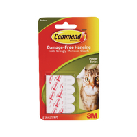 3M Command Adh Poster Strips Small Pk12