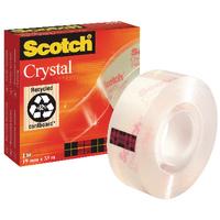 Scotch Crystal Clear Tape 19mmx33m 600