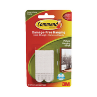 3M Command Med Picture Hanging Strip Pk4