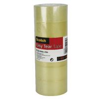 Scotch Easy Tear 24mmx33m Clear Tape Pk6