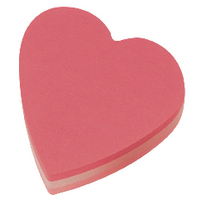 Post-it Heart 70x70mm Pink 2007H Notes