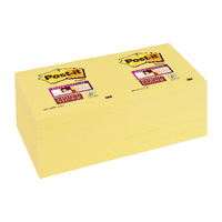 Post-it S/Sticky 76x76 Canary Note Pk12