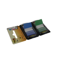 Post-it Green/Blue Index 1in Dual Pack