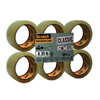 Scotch Clear 50mmx66m Packaging Tape Pk6