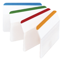 Post-it Durable Filing Tab Flat Pk24