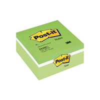 Post-it Notes Green 76x76mm Colour Cube
