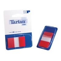 Tartan Red Index Tab Dispenser 25x43mm