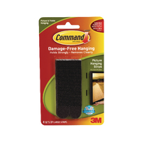 3M Command Lge Picture Hanging Strip Pk4