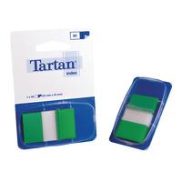 Tartan Green Index Tab Dispenser 25x43mm