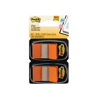 Post-It Orange Index Dispenser Duo Pk100