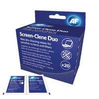 AF Screen-Clene Duo Wet/Dry Wipes Pk20