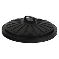 Addis Black Dustbin Lid Round 90Ltr