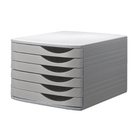Jalema Desktop Grey 6 Drawer Set
