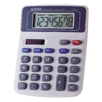 Aurora Wht/Blu 8-digit Calculator DT210