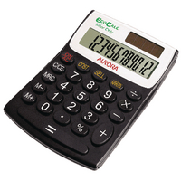 Aurora EC404 Blk/Wht 12-digit Calculator