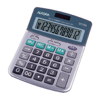 Aurora DT398 Silv/Gry 12-Digt Calculator