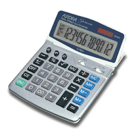 Aurora Silver/Grey 12-digit Desk Calc