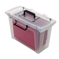 Strata Smart File Box With 5 Files HW697
