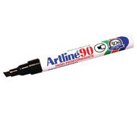 Artline 90 Chisel Tip Black Marker Pk12