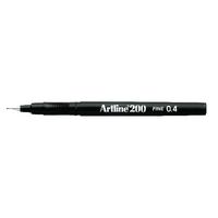 Artline Black 200 Fineliner Pk12