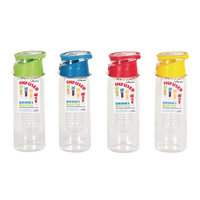 Infuser Water Bottle 750ml Assorted Pk12