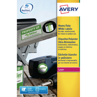 Avery L7068-20 Laser Label White 2/Sheet