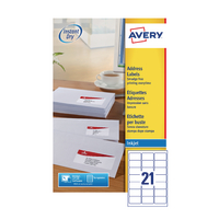 Avery 63.5x38.1 J8160-25 Inkjet Labels