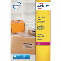 Avery L7567-25 Clear A1 Laser Label Pk25