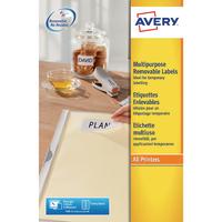 Avery Removable Labels L4743REV-25 Pk300