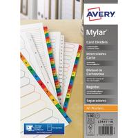 Avery Bright White 1-10 A4 Numeric Index