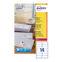 Avery L7163-40 Laser Labels White Pk40