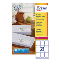 Avery LR7160-100 Rcycld Laser Addr Label