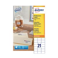 Avery Multi-Label 70x42.3mm Pk100 3652