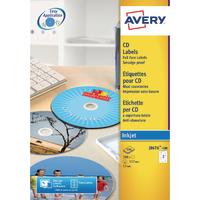 Avery CD DVD Inkjet Label Face QkDry P50