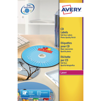 Avery Glossy Col Laser F/Face CD/DVD