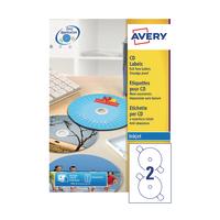 Avery Full Face CD/DVD Inkjet Label P100