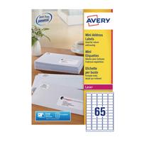 Avery L7651-250 Laser Mini Add Labels