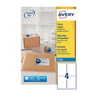 Avery QuickDRY J8169-100 Inkjet Labels