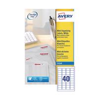 Avery Inkjet Mini Labels 40x25Sht Pk1000
