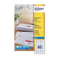 Avery Inkjet Label 38.1x21.2mm J8651-25