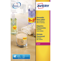 Avery L7263-25 Yellow Laser Labels