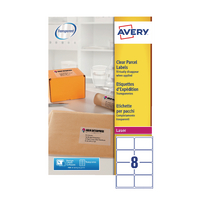 Avery L7565-25 Clear Laser Labels Pk25