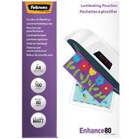 Fellowes A4 Matt Laminating Pouch Pk100