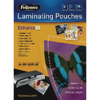 Fellowes A4 Laminating Pouch 160mic P100